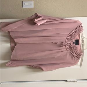 Blush pink blouse
